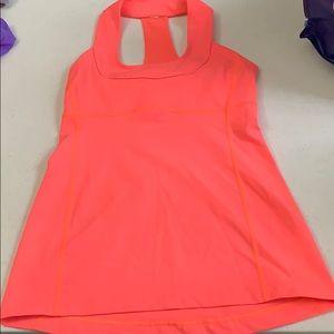 Lululemon Athletic Neon Orange Tank Top